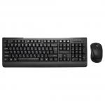Клавиатура Delux DLD-6091OGB, Black, USB + мышь