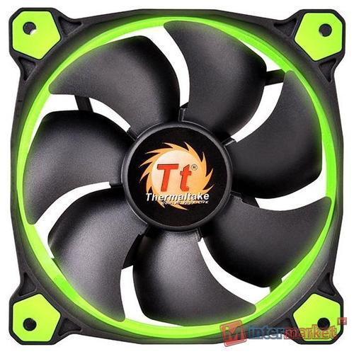 Кулер для кейса Thermaltake Riing 12 LED Green, Чёрный